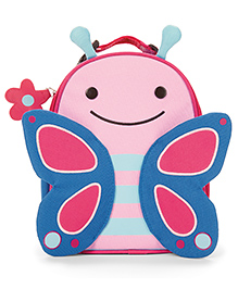 Skiphop Zoo Insulated Lunch Bag Blossom Butterfly Design - Pink Blue
