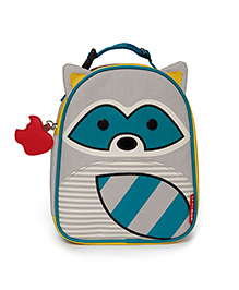 Skiphop Zoo Insulated Lunch Bag Riggs Racoon Design - Grey