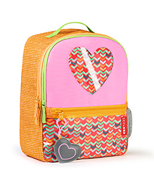 Skiphop Forget-Me-Not 3 Piece Backpack Set Heart Print - 35 cm