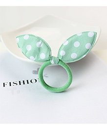 Little Palz Polka Dot Hair Rubber Band - Green