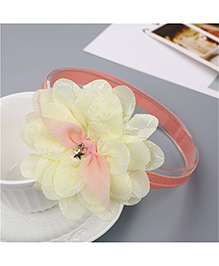 Little Palz Lace Flower Applique Hairband - Lemon