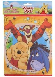 Winnie The Pooh Loot Bags - Pack of 8