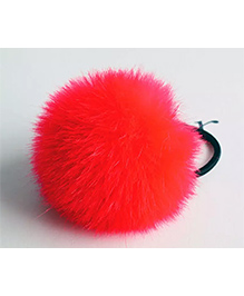 Angel Closet Soft Fur Rubber Band - Red
