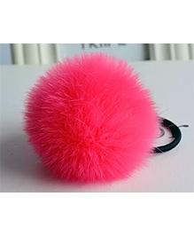 Angel Closet Soft Fur Rubber Band - Bright Pink