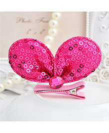 Angel Closet Sequinned Hair Clip - Bright Pink