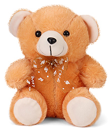 Play Toons Teddy Bear With Bow Brown - 20 Cm