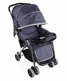 Baby Pram Cum Stroller - Black Grey