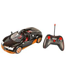 Toyhouse 5 Channel Remote Control Bugatti Car - Orange Black