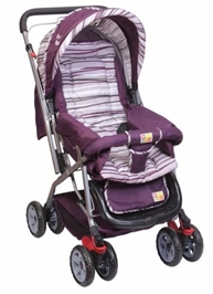 Mee Mee Pram MM 22 - Purple and White
