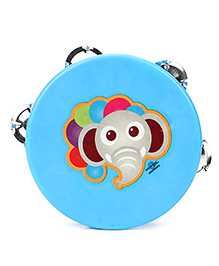 Speedage Elephant Face Print Dafli - Blue