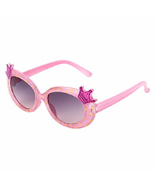 Miss Diva Double Crown Design Sunglasses - Baby Pink