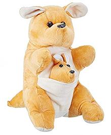 Deals India Kangaroo Mother And Baby Light Brown - 30 Cm