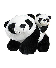 Deals India Mother Panda With Baby Panda Soft Toy Balck White - 45 Cm
