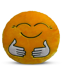 Deals India Hugging Smiley Cushion - Yellow