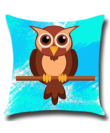Ambbi Collections Cushion Cover Owl Design - Blue Brown