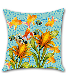 Ambbi Collections Digital Printed Cushion Cover Fish Design - Multi Color - 1488224