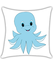 Ambbi Collections Digital Printed Cushion Cover Octopus Design - Blue White