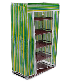 Storage Unit Stripes Pattern - Green
