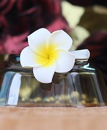 Tia Hair Accessories Frangipani Flower Clip - White And Yellow