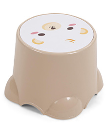 Baby Stool Animal Print - Beige White