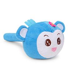 Musical Monkey Face Soft Toy Hammer Blue White - 24 cm Image