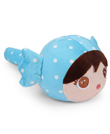 Musical Doll Face Soft Toy Hammer - Blue Image