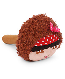 Musical Doll Face Soft Toy Hammer - Brown