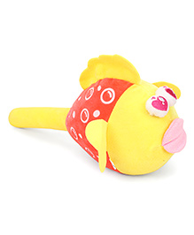 Musical Fish Face Soft Toy Hammer Yellow - 24 cm Image