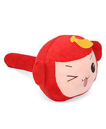 Musical Hammer Soft Toy Monkey Face Red - 24 cm Image