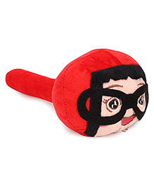 Musical Hammer Soft Toy Doll Face With Glasses Design Red Image
