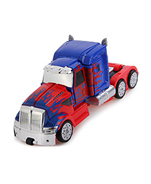 The Flyers Bay One Button Transforming Optimus Prime - Red Blue
