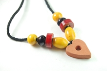 Redbug - Terracotta and Wooden Bead Jewellery Heart