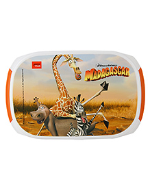 Jaypee Madagascar Print My Box Lunch Box Orange White - 900 Ml