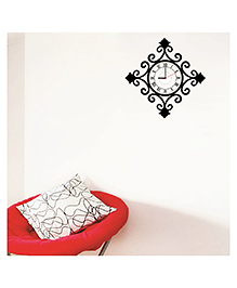 Syga Royal Wall Sticker Clock Design - Black