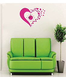 Syga Heart Wall Clock Design - Pink