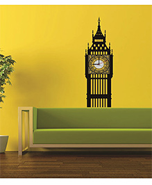 Syga Classic Tower Wall Sticker Clock Design - Black
