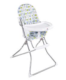 Fruits Print High Chair - Blue White