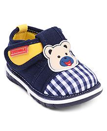 Cute Walk by Babyhug Casual Shoes Bear Applique - Dark Blue