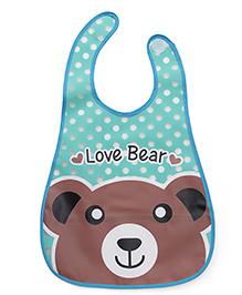 Babyhug Baby Bibs Bear Print - Aqua