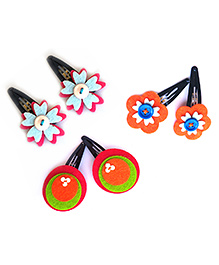 Two For Joy Hair Clips Set Of 3 - Multicolor