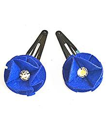 Two For Joy Floral Tic Tac Clips Set Of 1 - Blue
