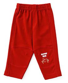 Ollypop Full Length Lounge Pant Bear Face Print - Dark Red
