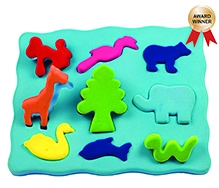 Rubbabu 3D Shape Sorter Animal Shapes - Multi Color