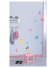 Decofun Princess Mini Foam Elements Wall Stickers Pack Of 10 - Multicolor