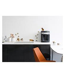 Home Decor Line Doggies Wall Stickers - Brown White Black