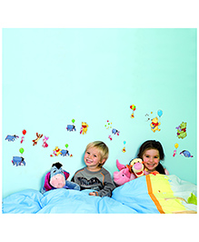 Decofun Winnie The Pooh Wall Stickers Small - Multicolor