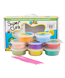 EZ Life Lightweight Magic Clay 8 Colors And Moulding Tool Set - Multi Colour