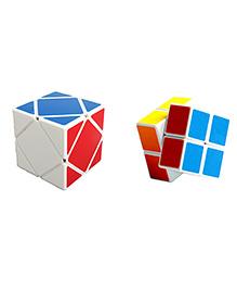 Emob 2x2 Rubik Plus Skewb Cube Puzzle Combo Pack Of 2 - Multicolor