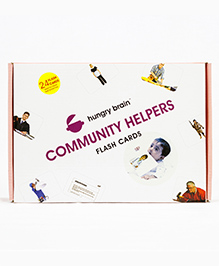 Hungry Brain Commuinity Helpers Flash Cards - Multi Color
