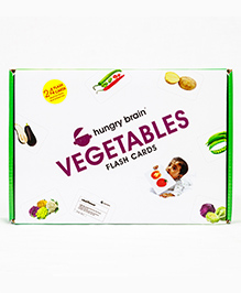 Hungry Brain Vegetables Flash Cards - Multi Color